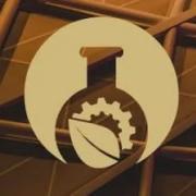 Beaker and leaf Venture Challenge logo