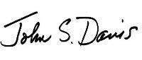 Dean John Davis's signature