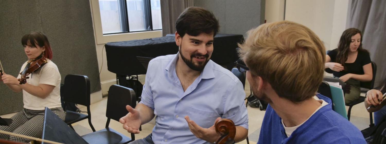 string musicians talking