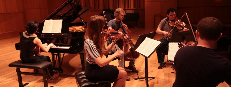 string quartet rehearsal
