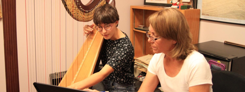 harp lesson