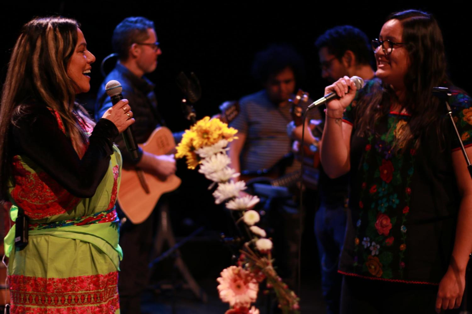 Junior Julieta García performs on stage during Mexican singer Lila Downs' Artist Series concert.