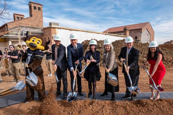 shovels in the ground