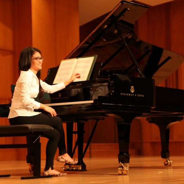 Pianist Alexandra Nguyen takes the stage for Faculty Tuesday