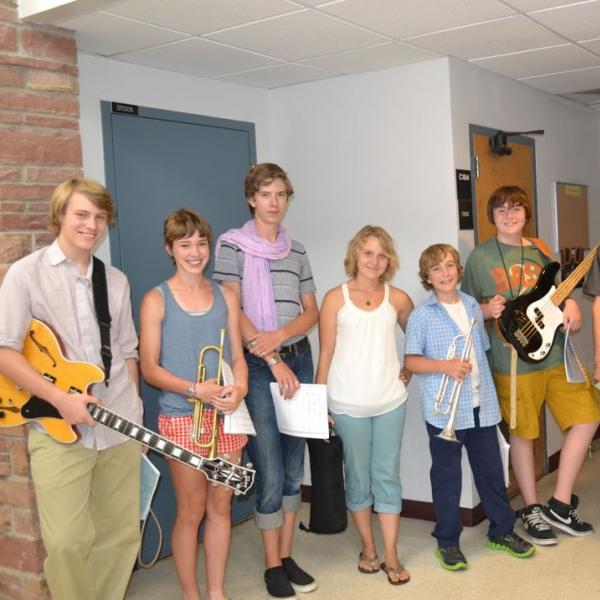 jazz students posing