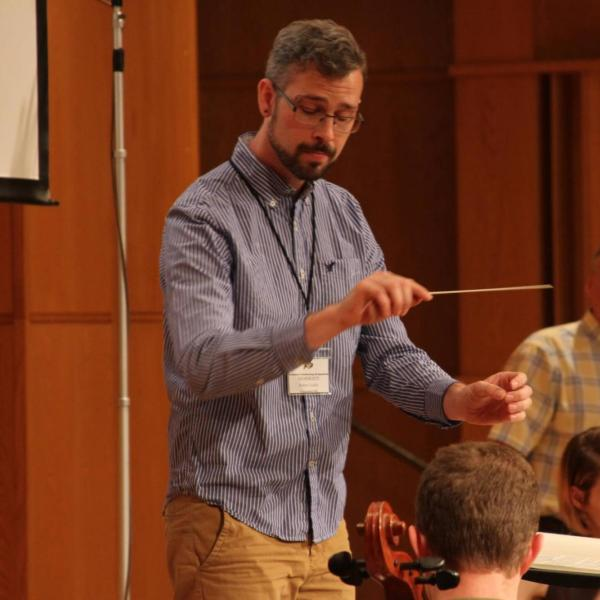orchestral student conducting