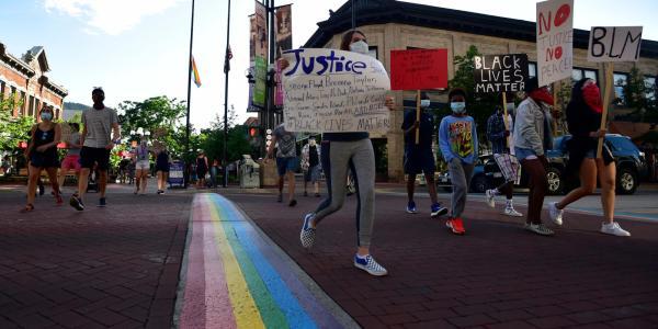 BLM protest, courtesy Boulder Daily Camera