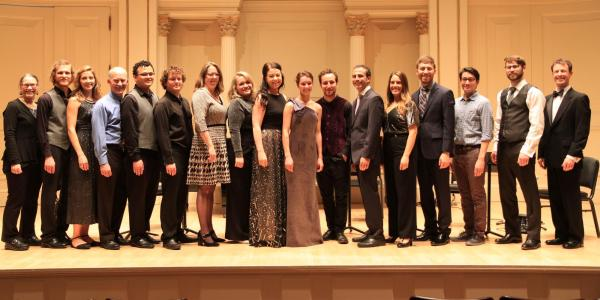 group on stage at carnegie hall