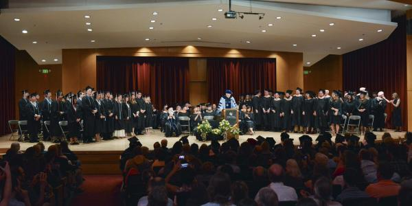 commencement standing ovation