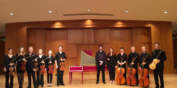 The Early Music Ensemble posing for a photo