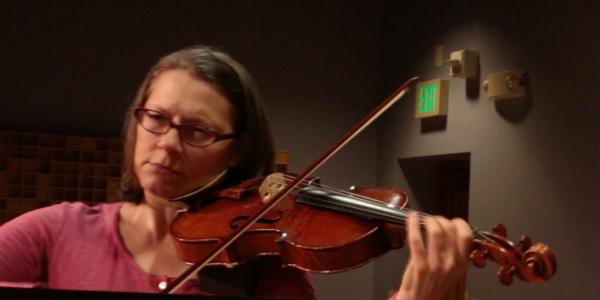 Erika Eckert and Margaret McDonald performing