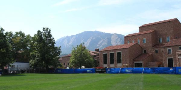 Flatirons from Imig Music Building