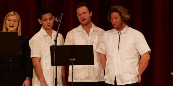 latin american ensemble on stage