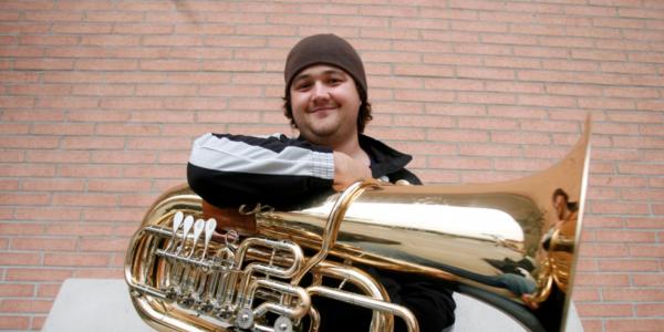 Michael Musick with his tuba