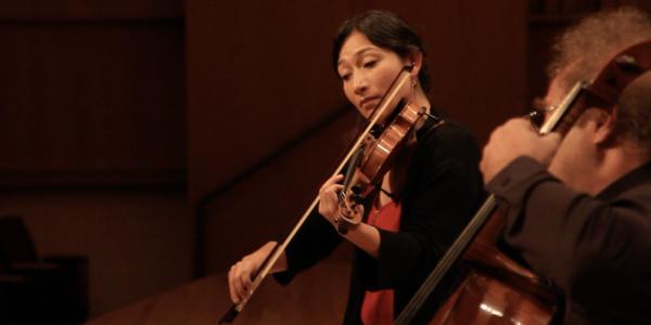 harumi Rhodes playing violin