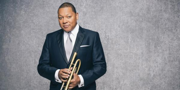 Wynton Marsalis playing trumpet