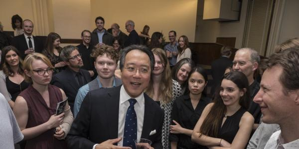 yo-yo ma with students