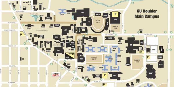 CU Boulder map