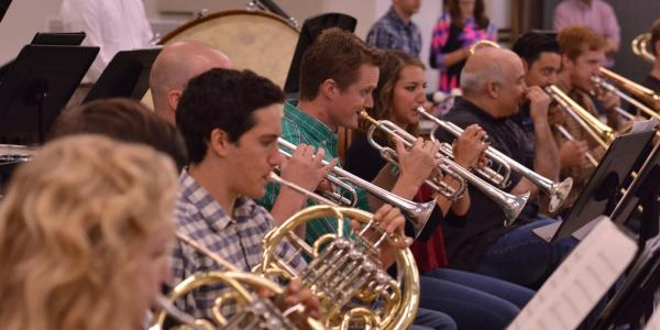 brass students performing