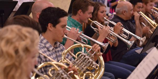 brass and percussion students