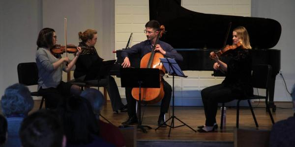 Chamber musicians on stage
