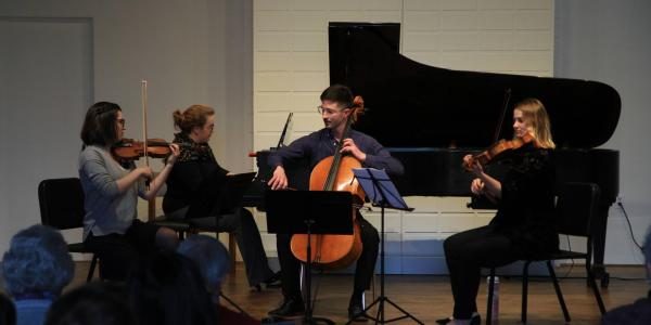Chamber musicians performing