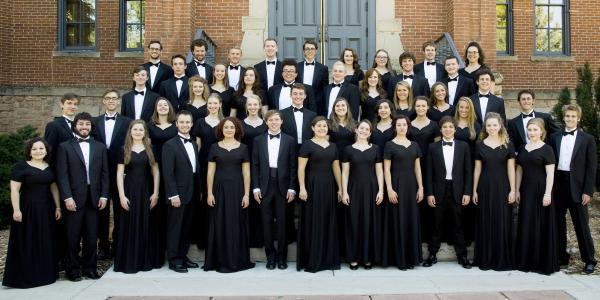 members of choir posing