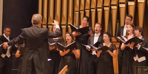 choral ensemble performance