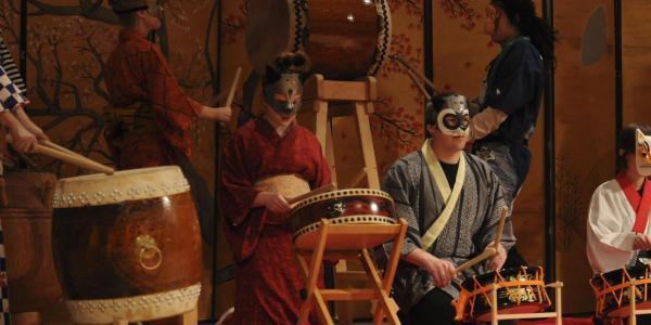 japanese ensemble on stage