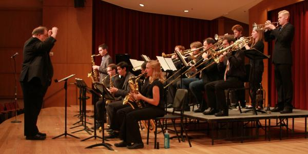 jazz ensemble on stage