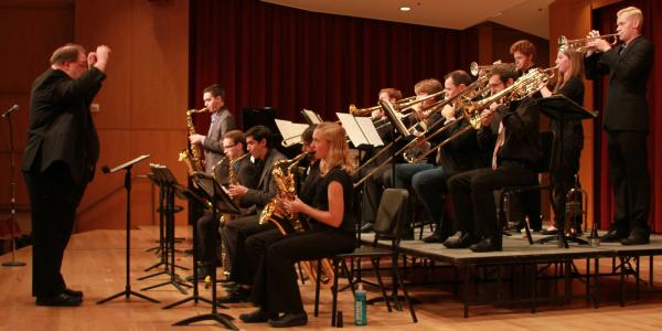Jazz Students on Stage