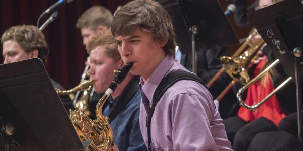 Sax player in Jazz band