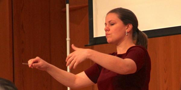student conducting in grusin