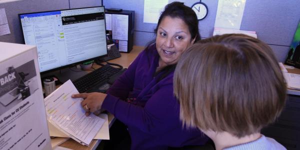 staff advising students