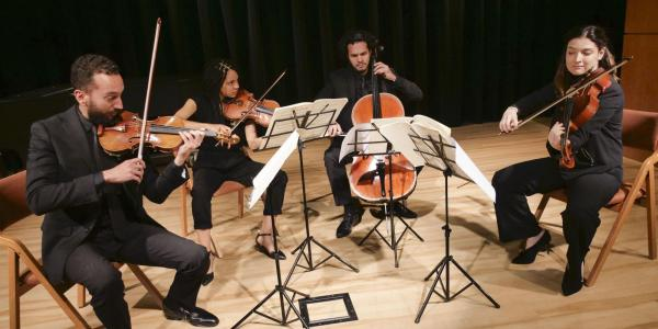 Ivalas Quartet on stage