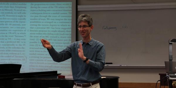 music theory teacher in class