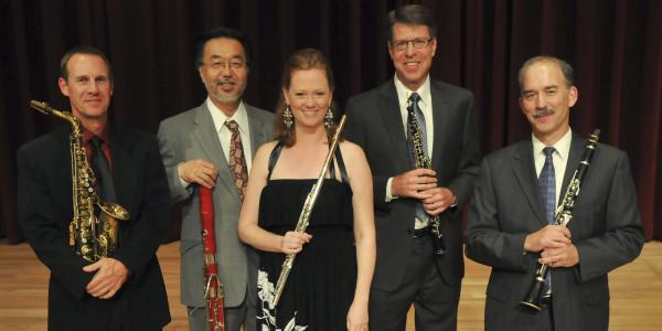 woodwind faculty pose