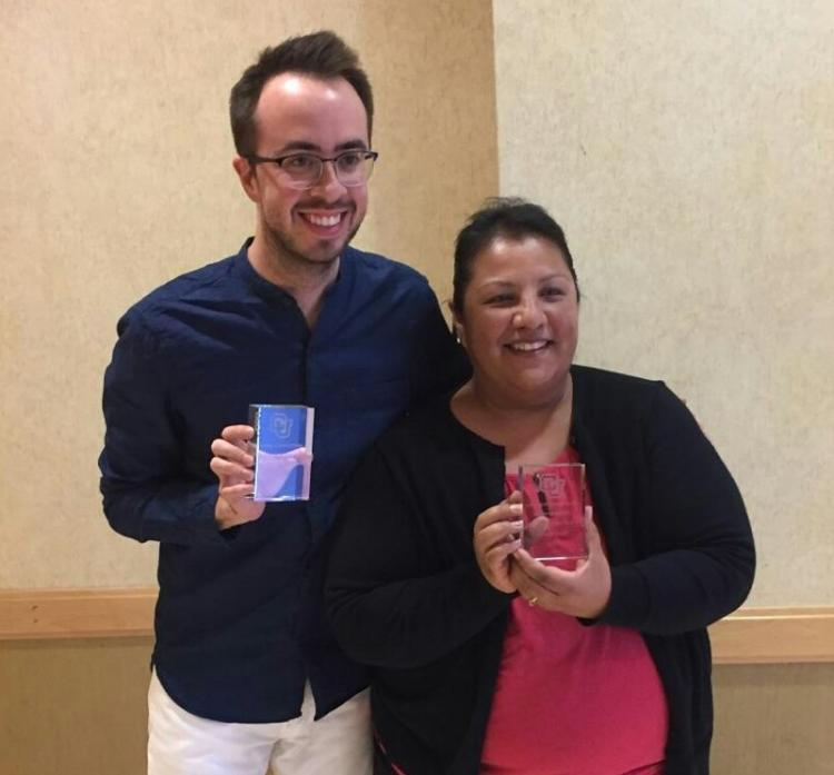 victoria receiving award