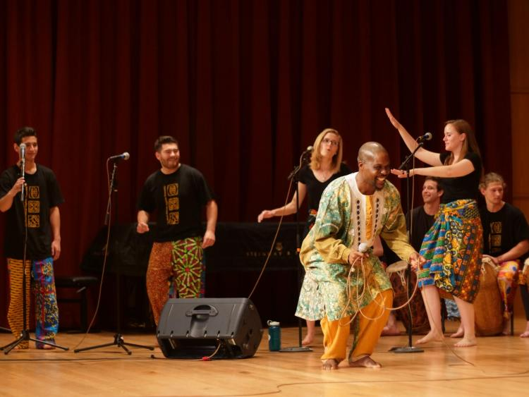 west african highlife ensemble on stage