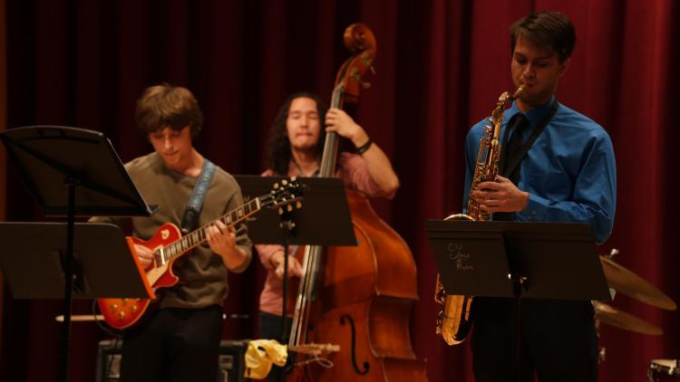 jazz band on stage in the 2010s