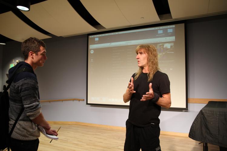 mike barnett teaching a student