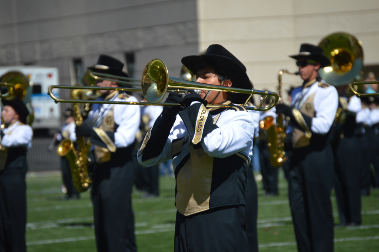 marching band on the field