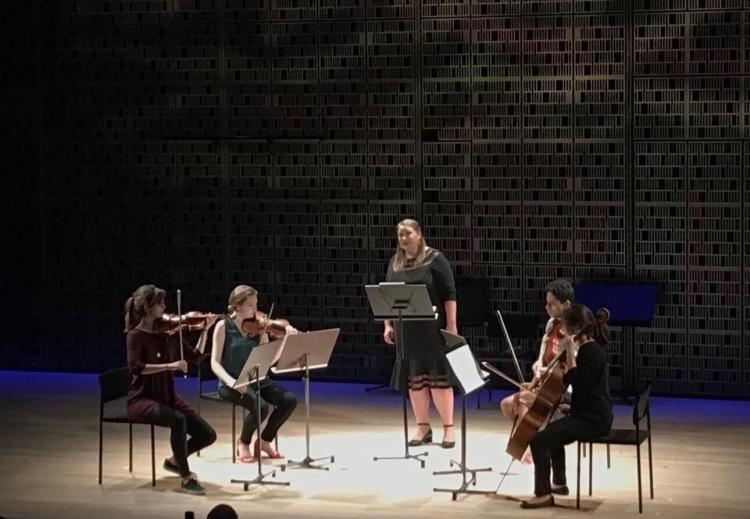 students on stage at sibelius academy