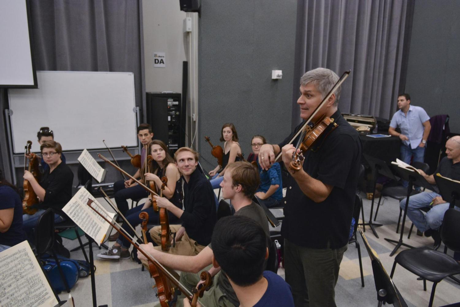 cleveland orchestra member with string section