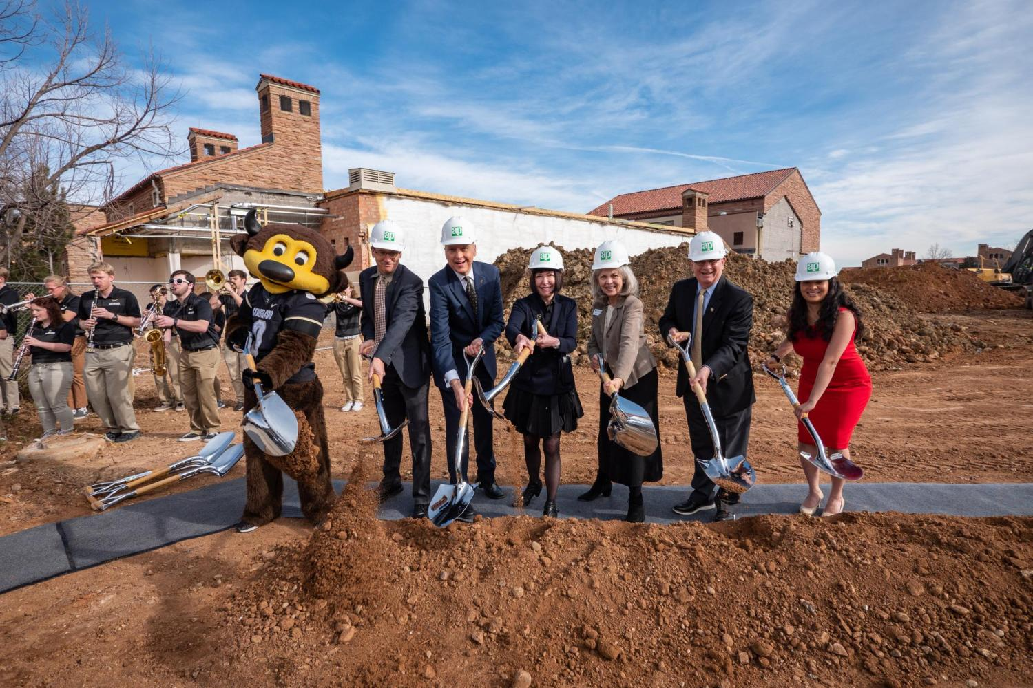 shovels in the ground with chip