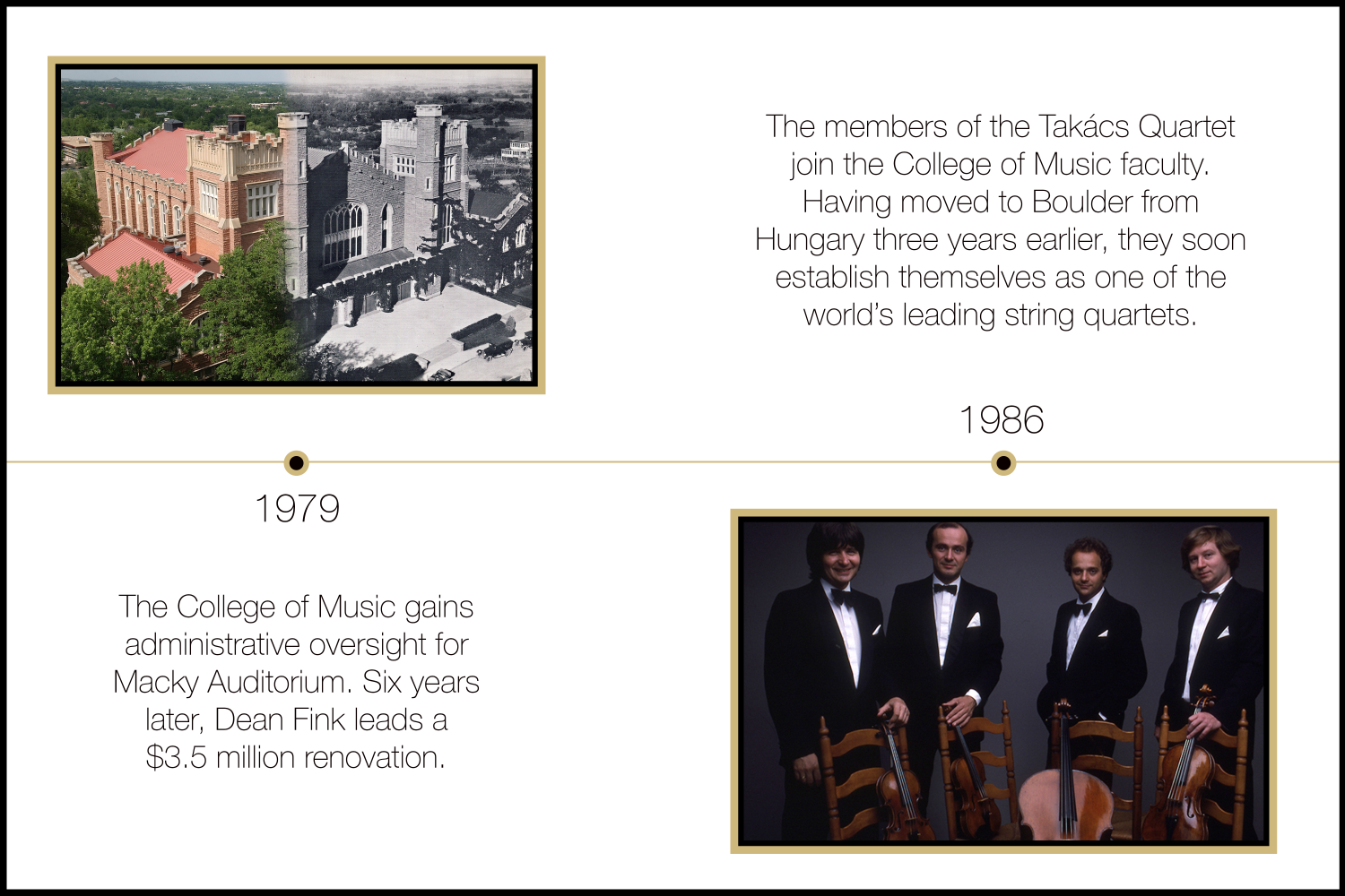 macky auditorium and the takacs quartet 1979-1986