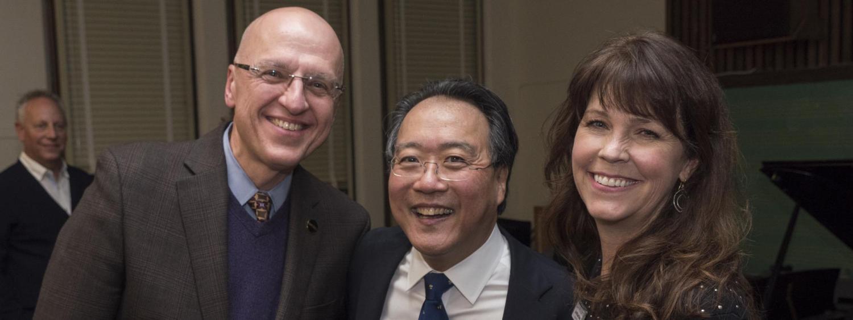 Rob Shay, Yo-Yo Ma and Joan Braun