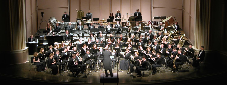 wind symphony on stage
