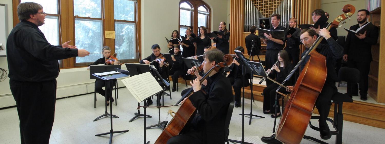 Choral ensemble performing