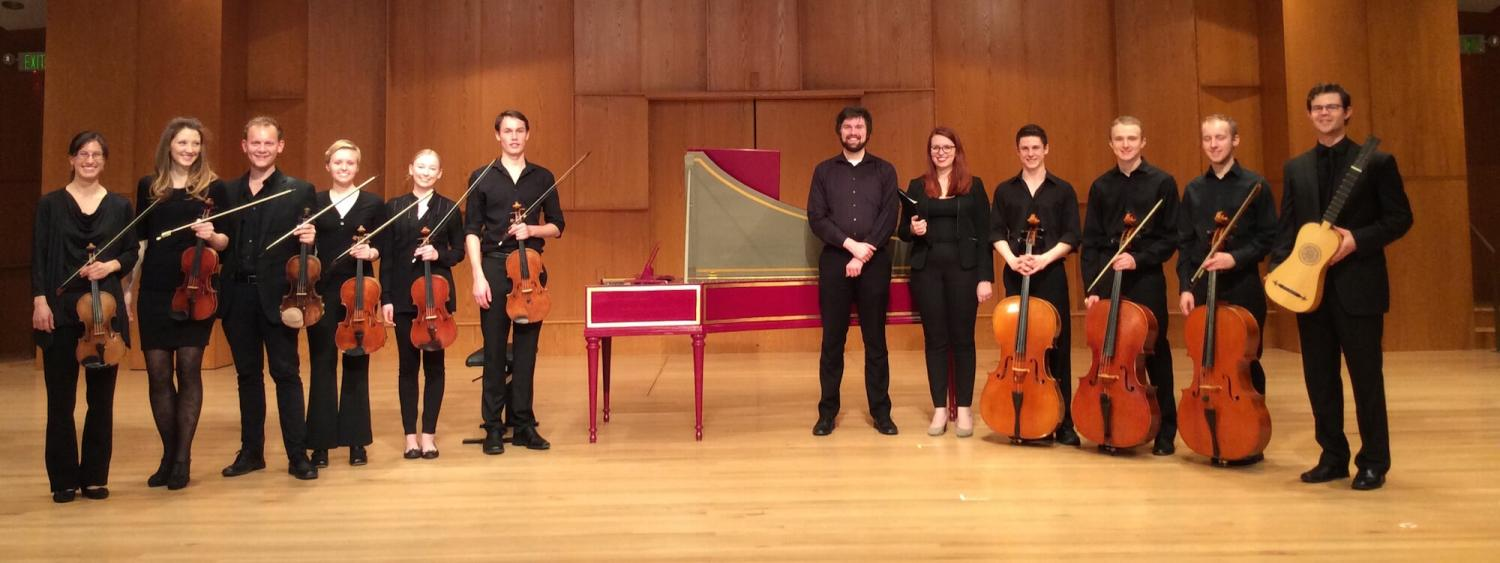 early music ensemble posing